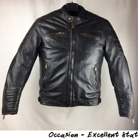 BLOUSON HELSTONS CRUISER WASH MARRON T.M