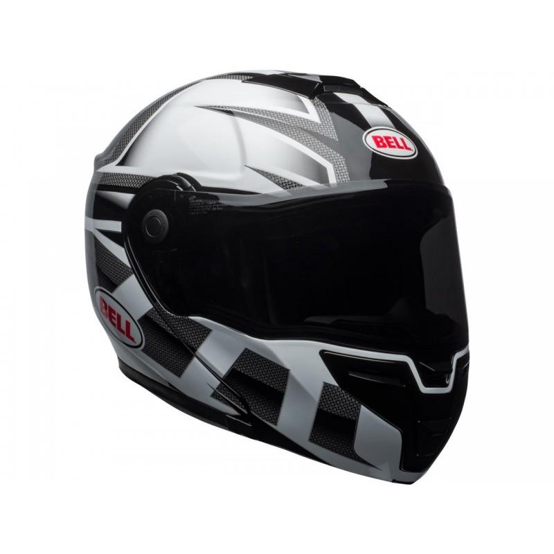 Casque Moto Bell Srt Modular Predator Blancnoir Vide Motocom