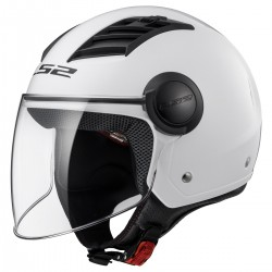 CASQUE LS2 OF562 AIRFLOW GLOSS WHITE LONG