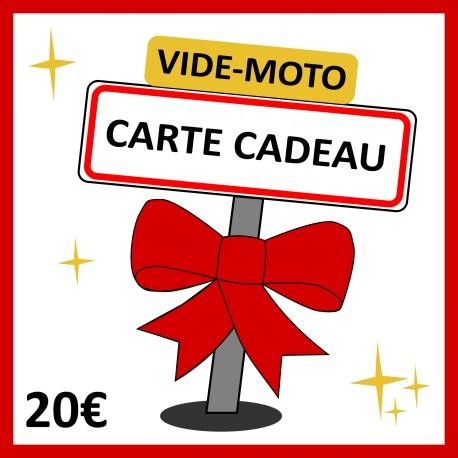 20 € - CARTE CADEAU VIDE-MOTO