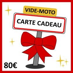 80 € - CARTE CADEAU VIDE-MOTO