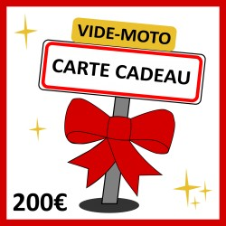 200€ - CARTE CADEAU VIDE-MOTO
