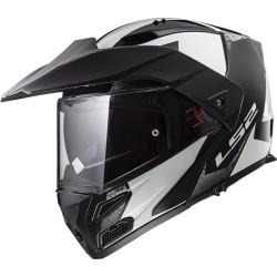 CASQUE LS2 FF324 METRO EVO SUB WHITE BLACK