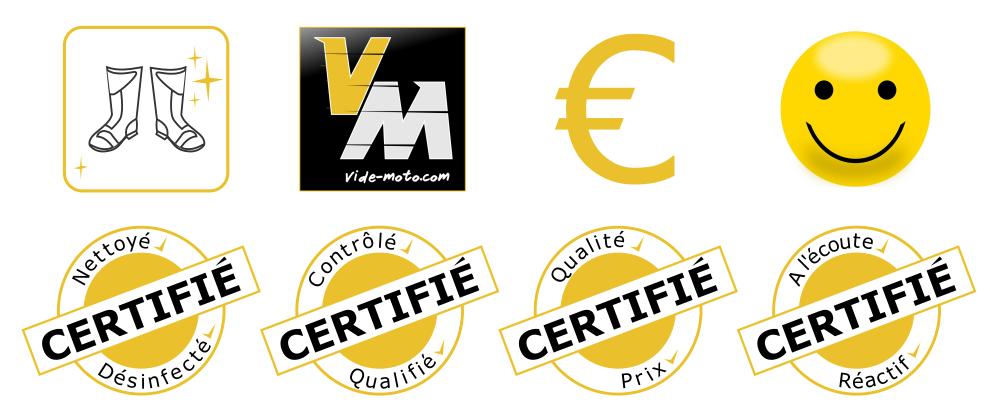 Nos engagements qualité chez Vide-moto