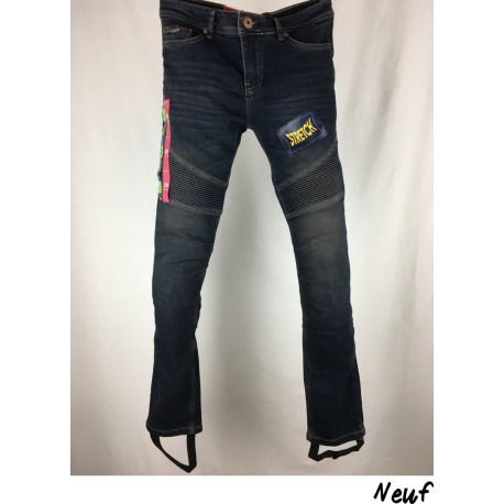 JEANS FEMME OVERLAP IMOLA DIRT T. US W28