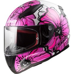 CASQUE LS2 FF353 RAPID POPPIES PINK