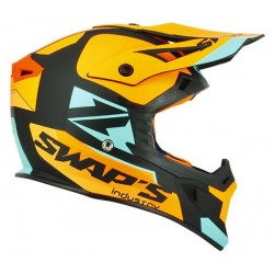 CASQUE SWAPS CROSS BLUR S818 ORANGE BLEU