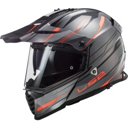 CASQUE LS2 MX436 PIONEER EVO KNIGHT TITANIUM ORANGE