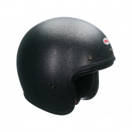 CASQUE BELL CUSTOM 500 SOLID NOIR FLAKE