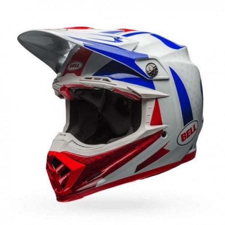 CASQUE BELL MOTO-9 FLEX VICE BLEU/ROUGE