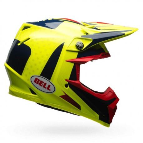 CASQUE BELL MOTO-9 FLEX VICE BLEU/JAUNE