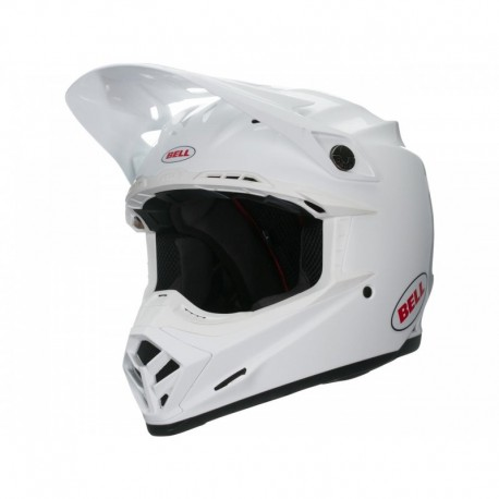 CASQUE BELL MOTO-9 MIPS SOLID BLANC