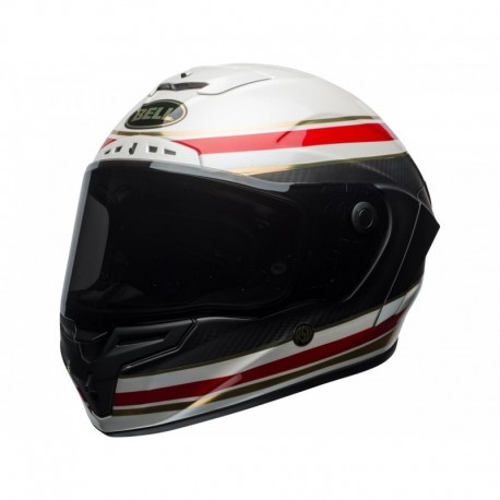 CASQUE BELL RACE STAR FORMULA BLANC/ROUGE