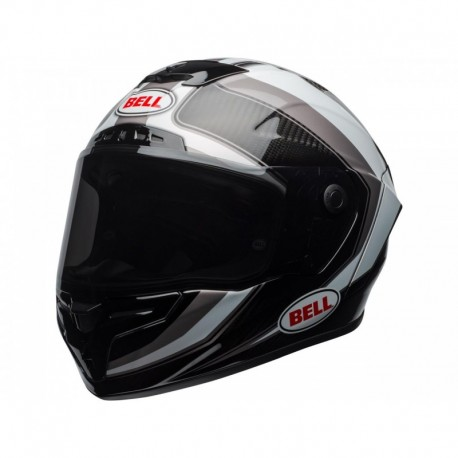 CASQUE BELL RACE STAR SECTOR BLANC/TITANIUM
