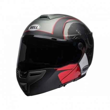 CASQUE BELL SRT MODULAR HART LUCK CHARCOAL/BLANC