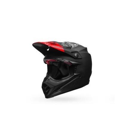 CASQUE BELL MOTO-9 FLEX FASTHOUSE MATTE BLACK/RED