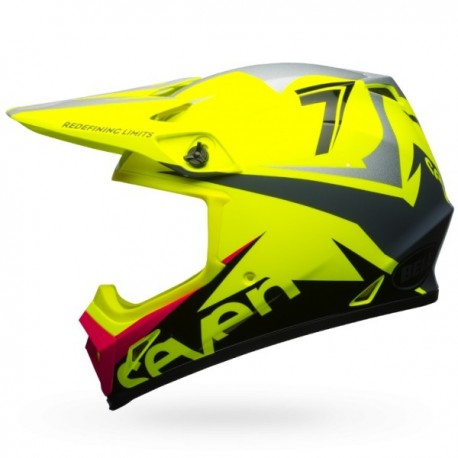 CASQUE BELL MX-9 MIPS SEVEN IGNITE FLUO YELLOW