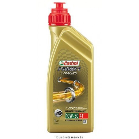 HUILE 4T RACING 10W50 100% SYNTHESE POWER1 CASTROL