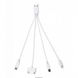 CÂBLE ADAPTATEUR USB 4 FICHES SMARTPHONES KYOTO
