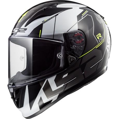 CASQUE LS2 FF323 ARROW R TECHNO BLACK WHITE