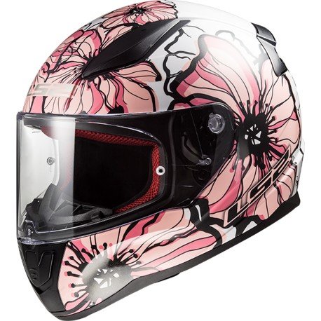 CASQUE LS2 FF353 RAPID POPPIES WHITE PINK