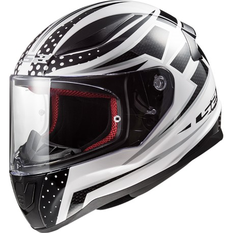 CASQUE LS2 FF353 RAPID CARBORACE WHITE BLACK