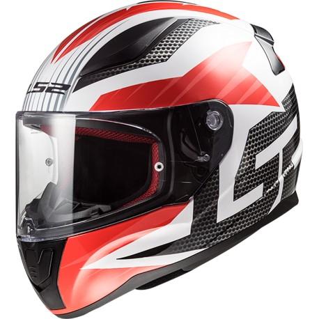 CASQUE LS2 FF353 RAPID GRID WHITE RED