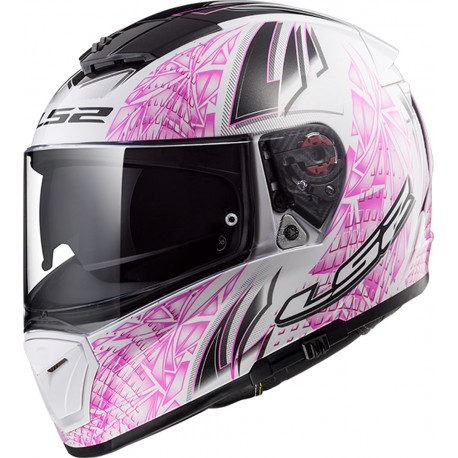 CASQUE LS2 FF390 BREAKER RUMBLE WHITE PINK