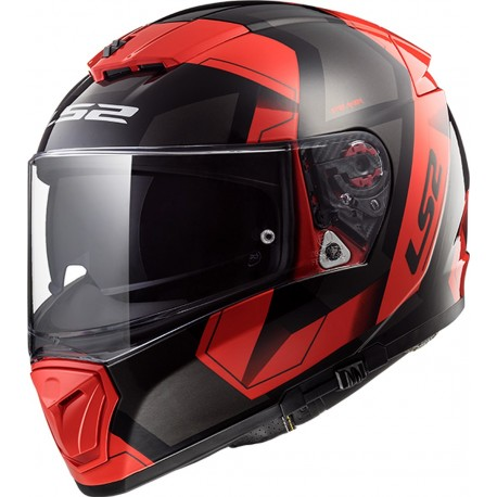 CASQUE LS2 FF390 BREAKER PHYSICS BLACK RED