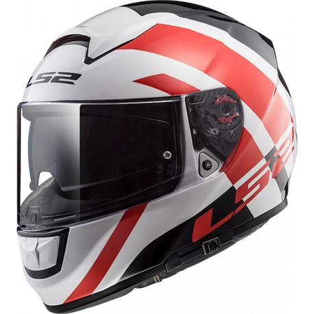 CASQUE LS2 FF397 VECTOR FT2 TRIDENT WHITE RED