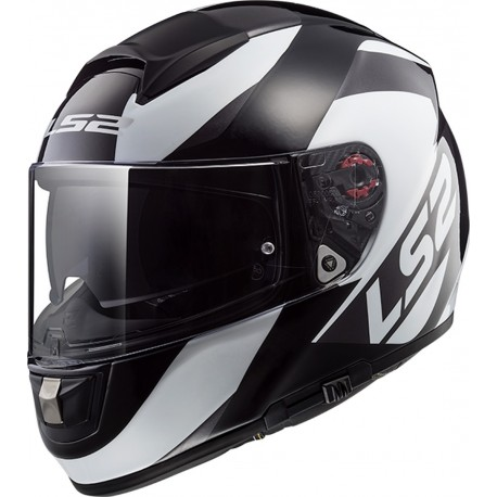 CASQUE LS2 FF397 VECTOR FT2 WAVY BLACK TITANIUM WHITE