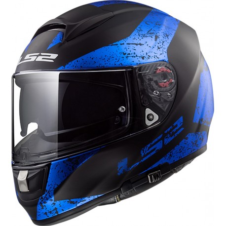 CASQUE LS2 FF397 VECTOR FT2 SIGN MATT BLACK BLUE