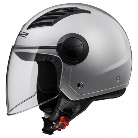 CASQUE LS2 OF562 AIRFLOW GLOSS SILVER LONG