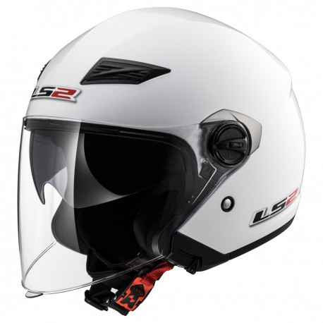 CASQUE LS2 OF569 TRACK GLOSS WHITE