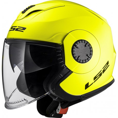 CASQUE LS2 OF570 VERSO GLOSS HI-VIS YELLOW