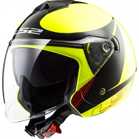 CASQUE LS2 OF573 TWISTER PLANE YELLOW BLACK RED