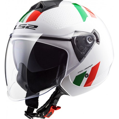 CASQUE LS2 OF573 TWISTER COMBO WHITE GREEN RED