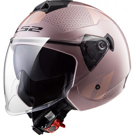 CASQUE LS2 OF573 TWISTER COMBO PALE PINK