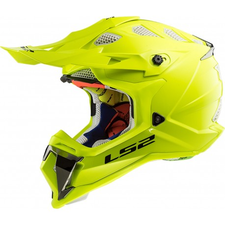 CASQUE LS2 MX470 SUBVERTER SINGLE MONO HI-VIS YELLOW