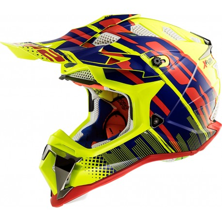CASQUE LS2 MX470 SUBVERTER BOMBER YELLOW BLUE RED