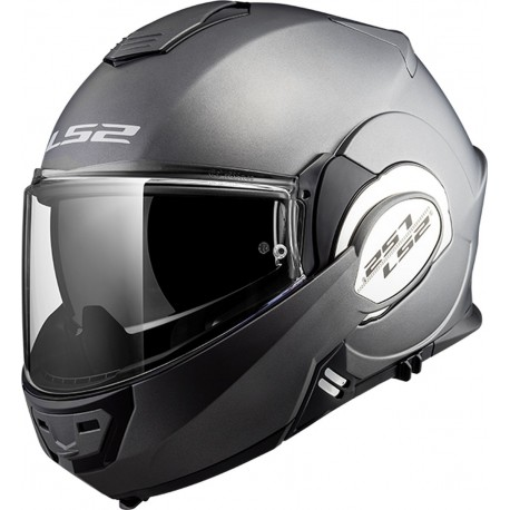 CASQUE LS2 FF399 VALIANT SINGLE MONO MATT TITANIUM
