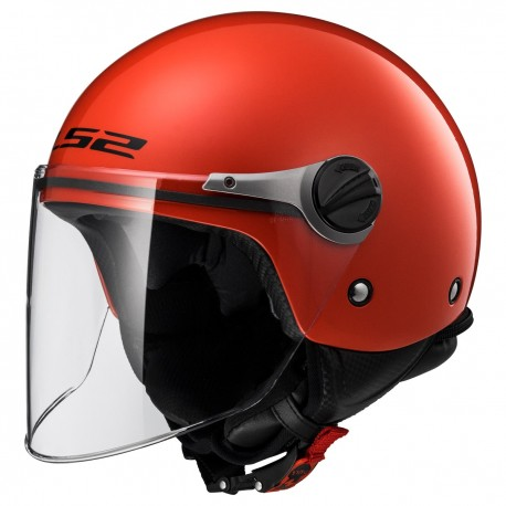 CASQUE LS2 OF575 WUBY JUNIOR GLOSS RED
